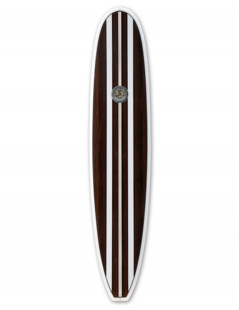 Hawaiian Soul Veneer Mini Mal surfboard 7ft 2 - Mahogany