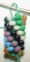 As knitting crochet beads...Como tejer cuentas a crochet.