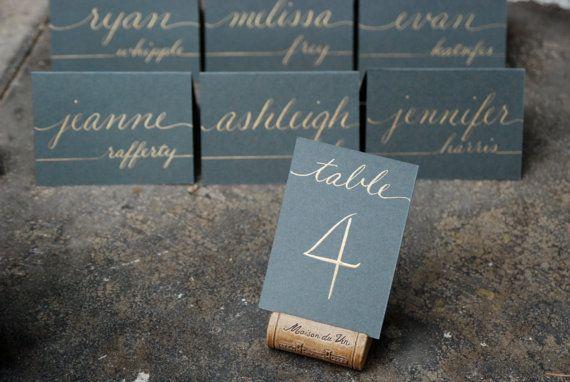 Mini Hochzeit Tischnummern flache 25 x 35 von SouthernCalligraphy