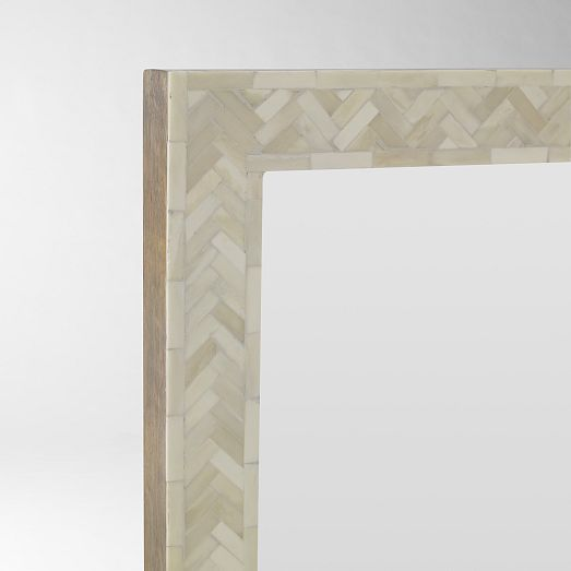 parsons large wall mirror bone inlay. Black Bedroom Furniture Sets. Home Design Ideas
