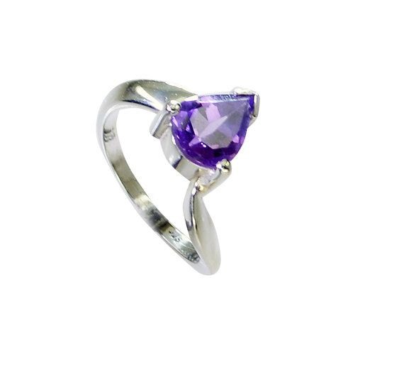 Amethyst Ring Gemstone Ring Silver Rings 92.5 sterling ring Purple Ring Ring Sz 7 8 9 1 10 11 12 13 6 5 Party Wear Ring by RiyoGems