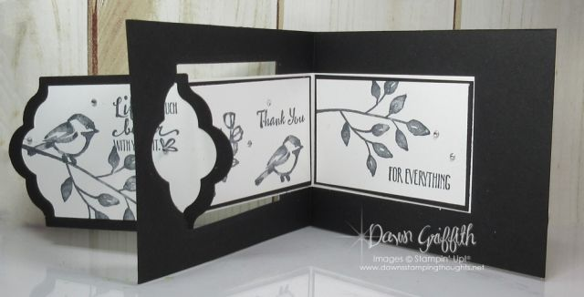 Lots of Labels Z Fold card video - Dawn's Stamping Thoughts  Petal Pallette