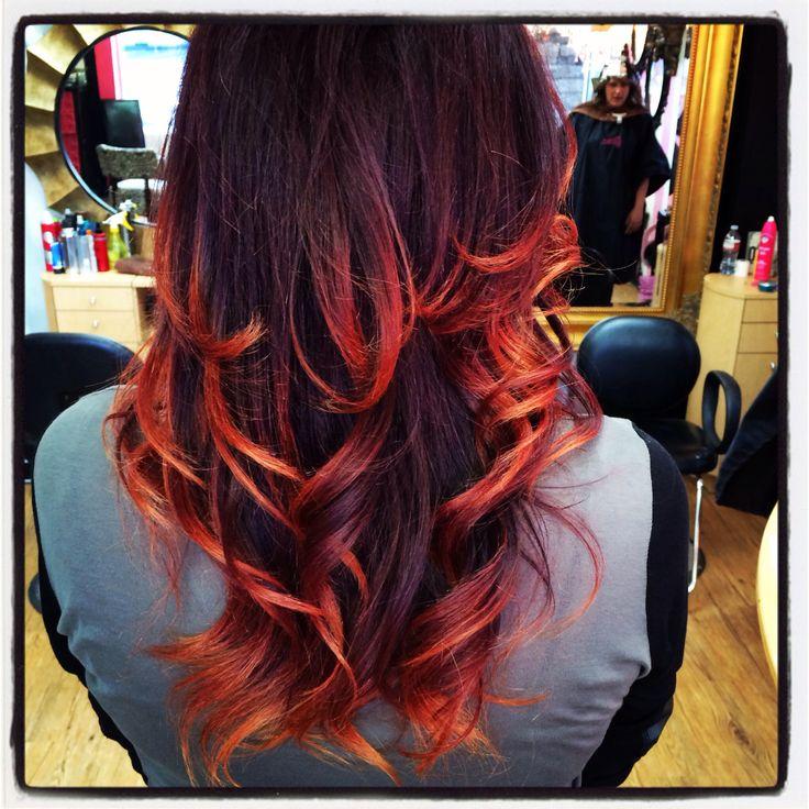 Black cherry ombre hair