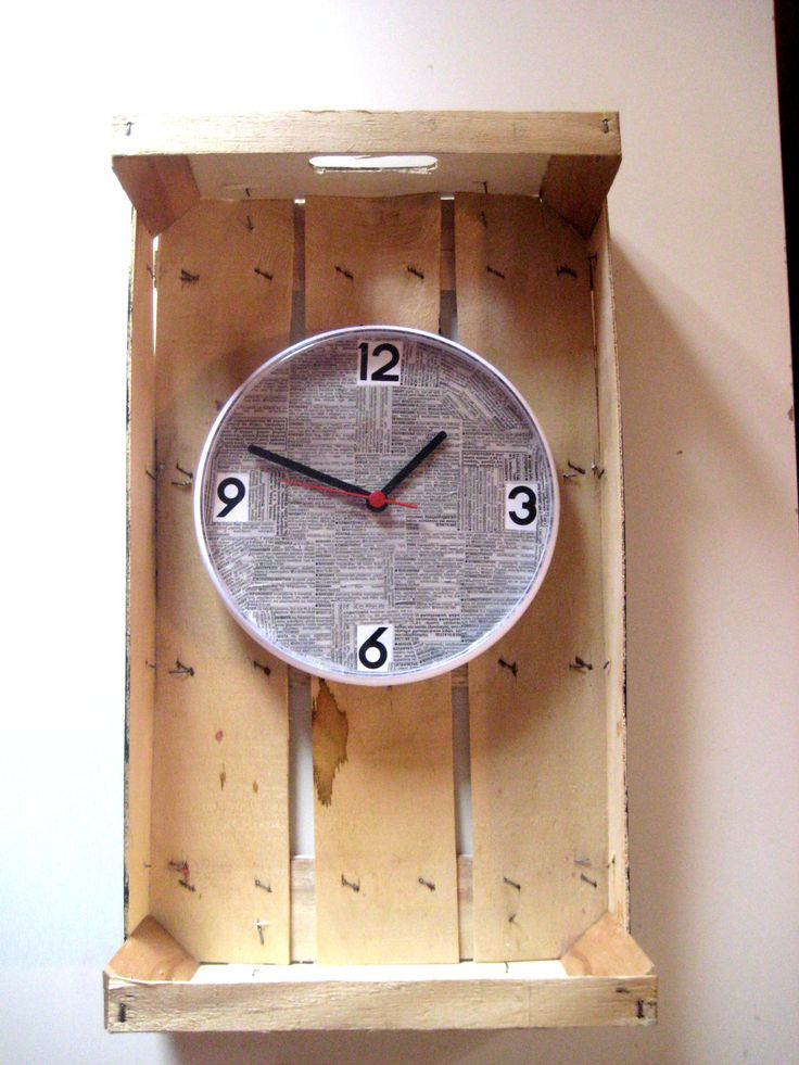 my project 8: clock with newspaper on a lattice is done!