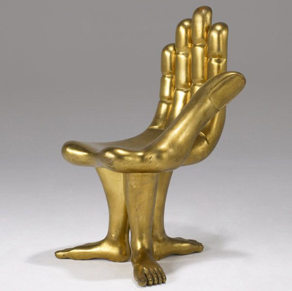 Hand and Foot chair designed by Pedro Friedeberg.