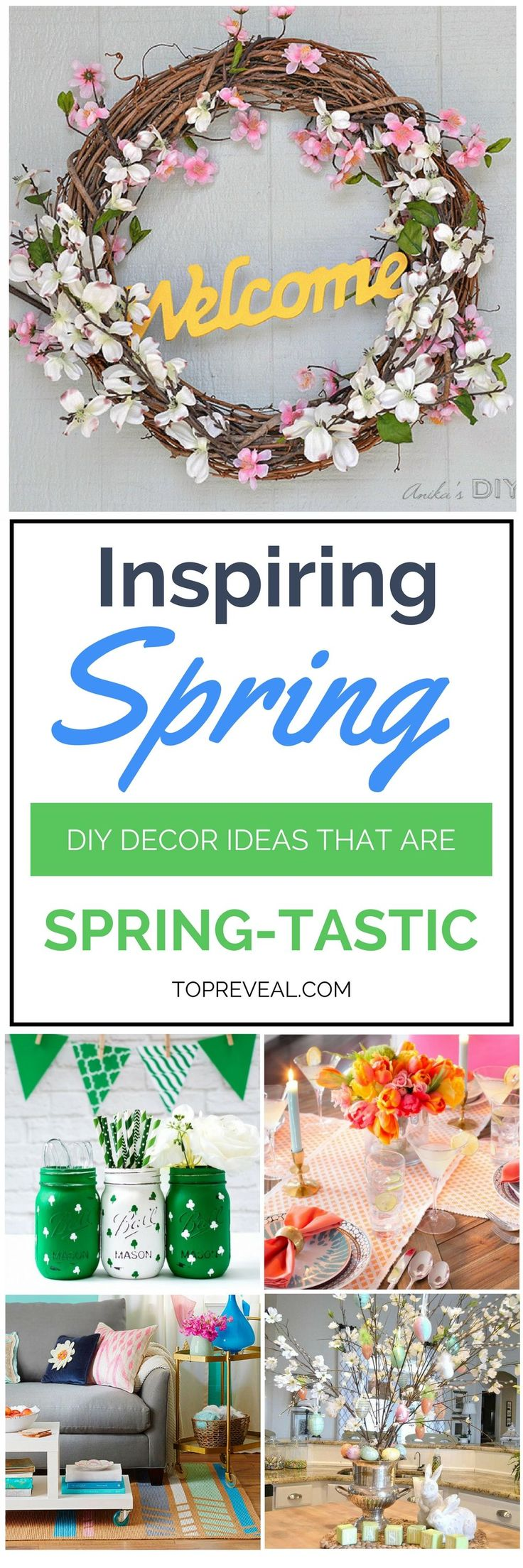 If you love spring as much as I do (or even half as much) and want to incorporate some of the season's signature elements in your home then mySpring DIY Ideas That Are Spring-Tastic (if I do say so myself) is just what you need! Read on to learn how easy it is and discover some ingeniousprojects to help make it happen. #diy #homedecor #spring #springdecor #decorations #decor