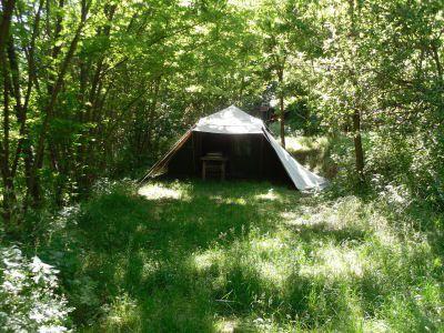 Kleine camping in de Cevennen