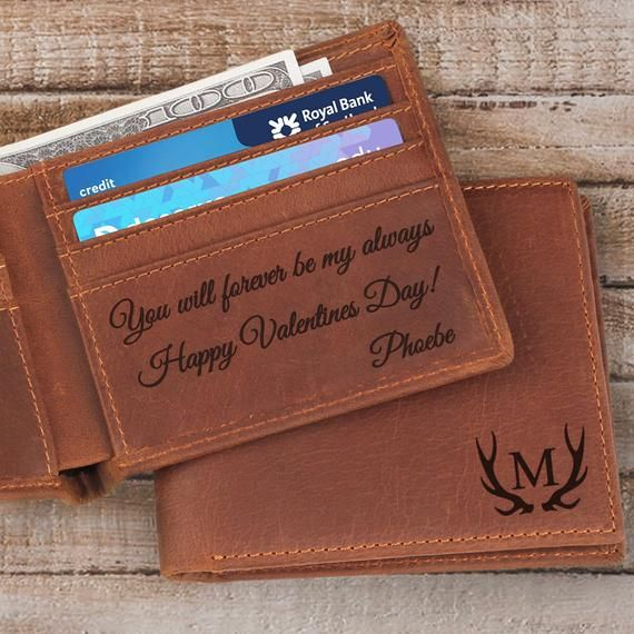 Personalized Leather Wallet Monogrammed Men/'s Wallet Anniversary Gift Graduation Gift Gift for Husband Gift for Him Christmas Gift