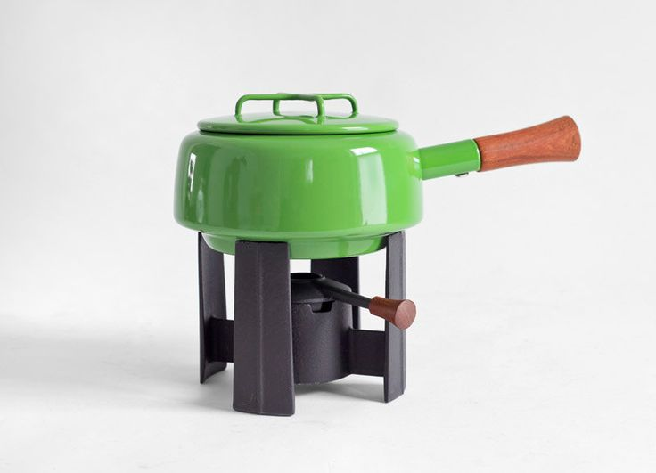 Vintage Dansk Enamel Fondue Pot - Jens Quistgaard, Mid Century Modern, Retro, Kitchen