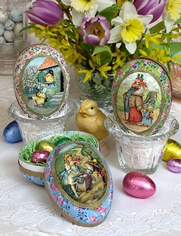 Easter Shop: Easter Sunday Egg Gift Box, Victorian Egg Container on Blumchen.com