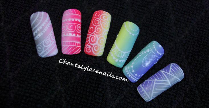 Ombre nails/fine line art
