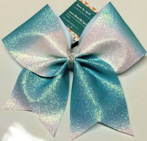 Dip-Dyed Glitter Ombré Cheer Bow - Any Colors - Bows by April
