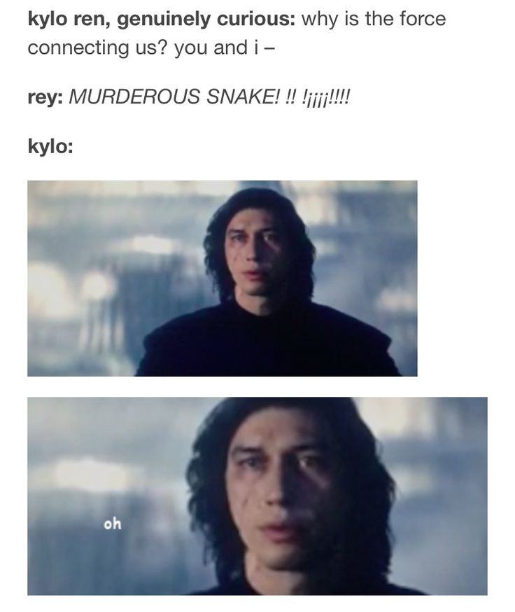 He is so in love... and I am such trash for this ship. Reylo, TLJ, Rey, Ben, Kylo Ren