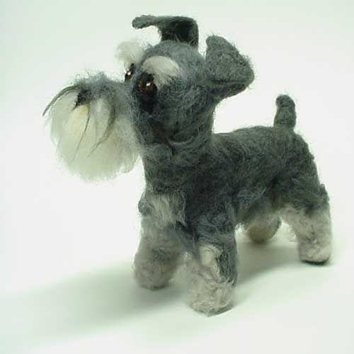 needle felted schnauzer - Google Search