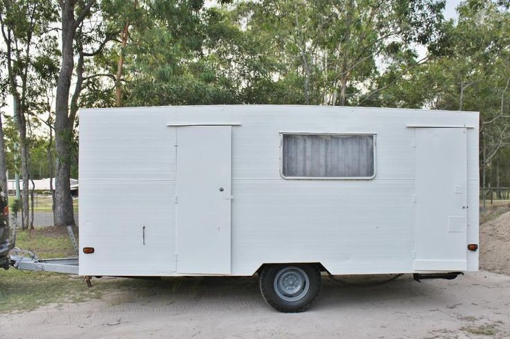 Pretty shabby country chic Caravan for sale on eBay AU. With toilet. English floral/gingham/buntings decor.