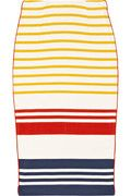 By Malene Birger|Trille striped cotton pencil skirt