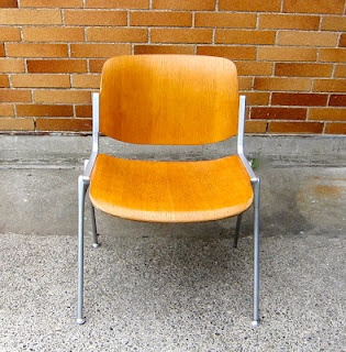 Mid-century Castelli stacking chairs