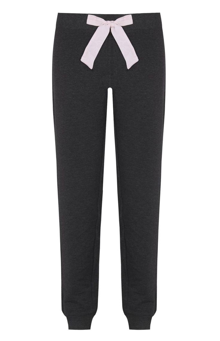 Primark 7 euro Pantaloni del pigiama grigi con fiocco
