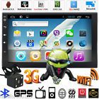 """CameraAndroid Quad Core 7"""" Double 2Din Car Stereo GPS MP5 Player Radio Wifi 3G"""