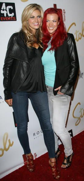 Erin Andrews and Kendra Andrews attend the 'Dancing With The Stars' Derek Hough And Mark Ballas Birthday Celebration at hwood on May 17 2010 in...