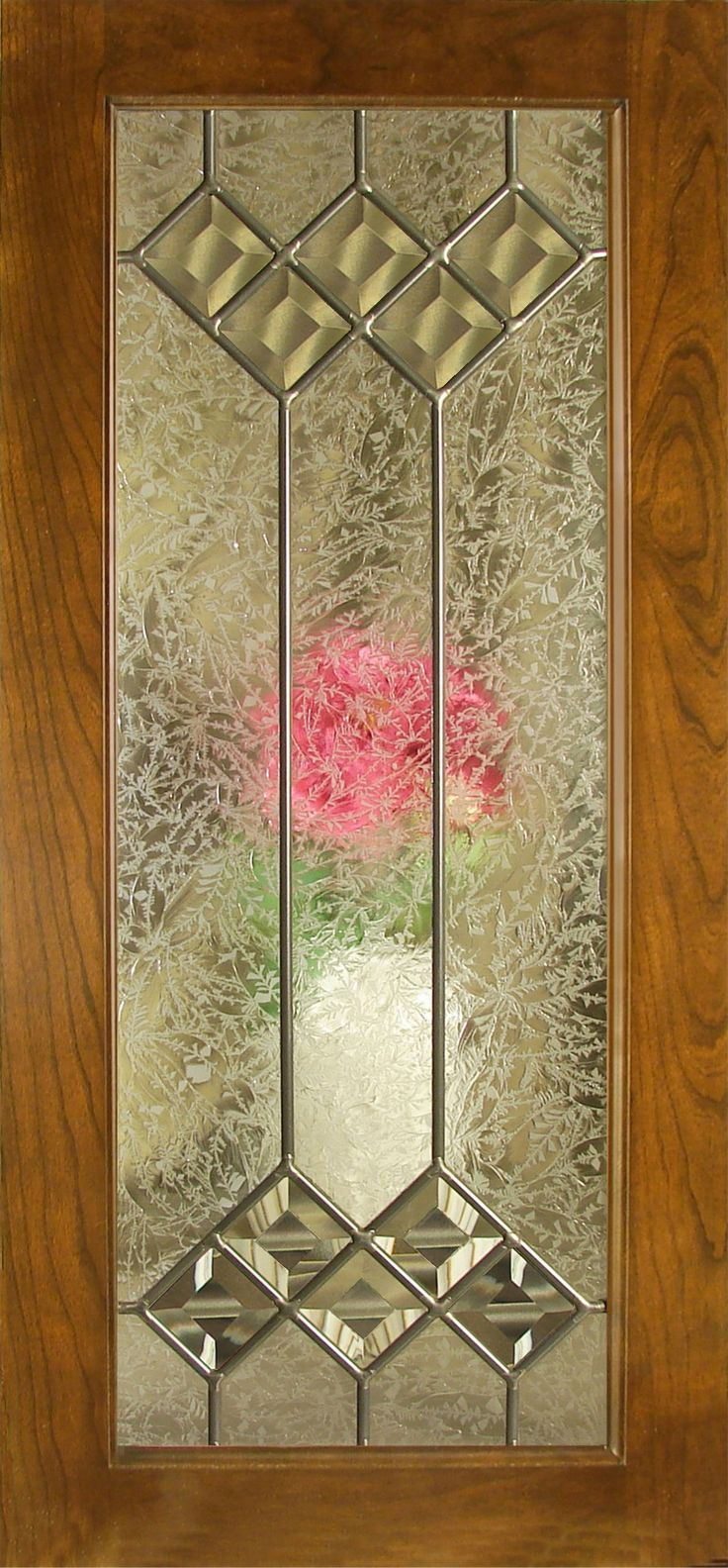 Kitchen cabinet stained glass panel insert - Leaded Glass Inserts For Accent Cabinet Doors Walzcraft
