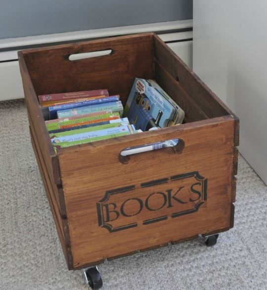 DIY books space made by old wood. - Design Bump.