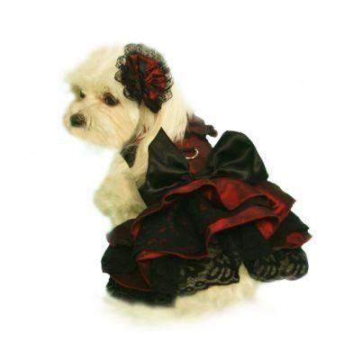 Burgundy Satin Scarlett O'Hara Harness Dress Set Size Small