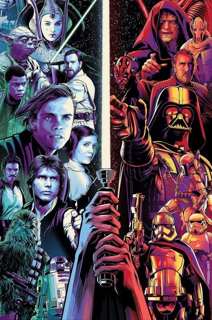 Star Wars Celebration Art Phone Wallpaper 1920 X 1080 Star Wars Painting Star Wars Awesome Star Wars Artwork