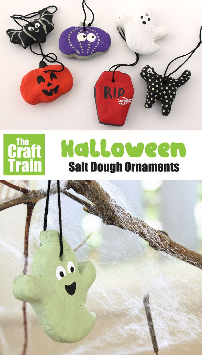 Halloween Salt Dough Ornaments The Craft Train Fun Halloween Crafts Crafts Halloween Crafts