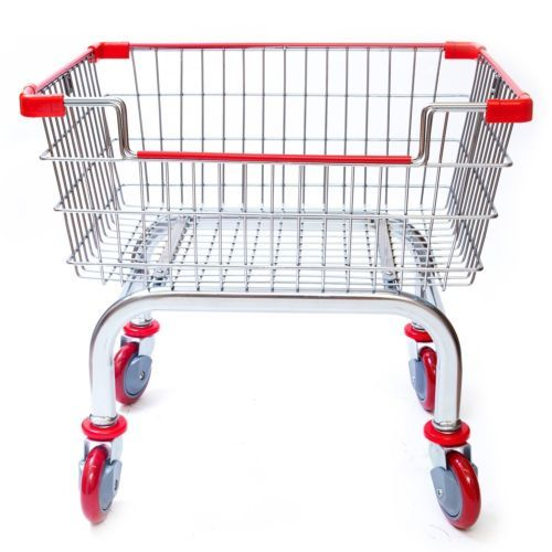 Laundry-Cart-Rolling-Clothes-Janitorial-Supply-Home-Hotels-Steel-Chrome-Sturdy