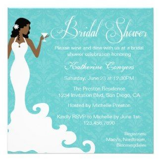 African American Bridal Shower Invitation.