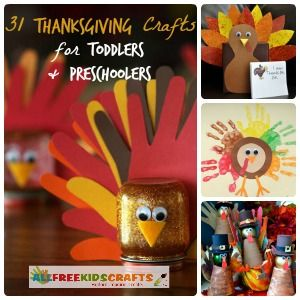 31 Thanksgiving Crafts for Toddlers + Preschool Thanksgiving Crafts. All the best Thanksgiving craft ideas for young children!