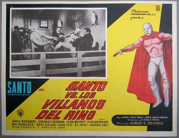 Santo contra los villanos del ring (Santo vs. the Villains of the Ring, 1966) (Santo's last B&W film)