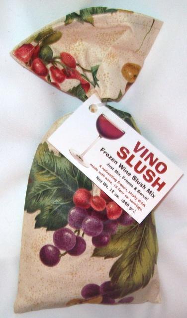 Vino Slush frozen wine slush mix - use with any wine! Just mix it, freeze it and enjoy.