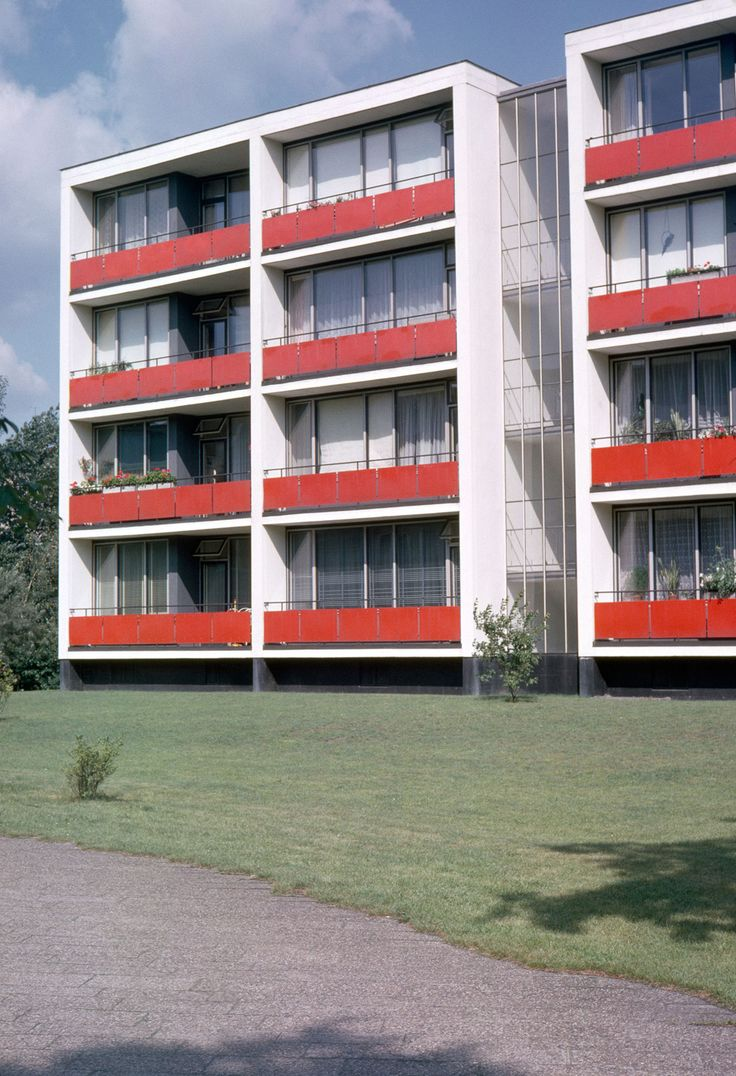 Apartment building designed for the international building exhibition interbau in 1957 in berlin