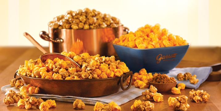 At Garrett Popcorn Shops®, we've maintained our dedication to fresh, delicious popcorn since we first opened at 10 West Madison Street in Chicago. We continue to use only the highest quality ingredients from area producers as we handcraft our gourmet popcorn in old-fashioned copper kettles. We strive to deliver the same popcorn today that customers first talked about in 1949. Learn more at http://www.garrettpopcorn.com/about