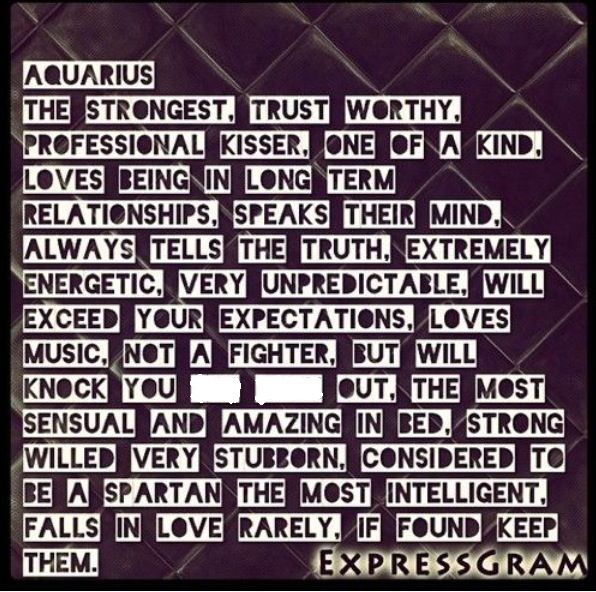 Needs Man In A An Woman Aquarius What