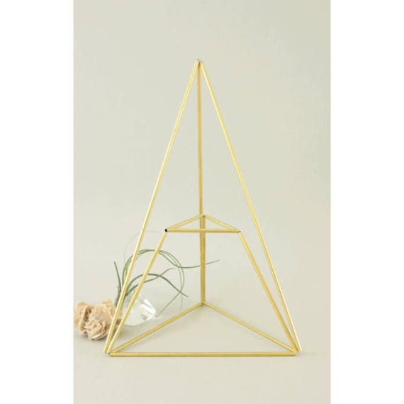 Himmeli PIRAMID: Geometric table planter - Mobile - Air plant holder - Indoor planter - Minimalistic - Modern home decor - Display box