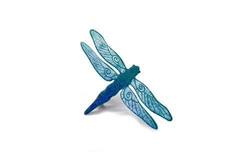Hand Painted Dragonfly Brooch , Enameled Metal Stainless Steel, Enamel Pin, Colorful Brooch, Insect Jewelry, Costume Jewelry, Insect by CinkyLinky on Etsy