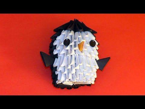 3D origami penguin tutorial for beginners - YouTube