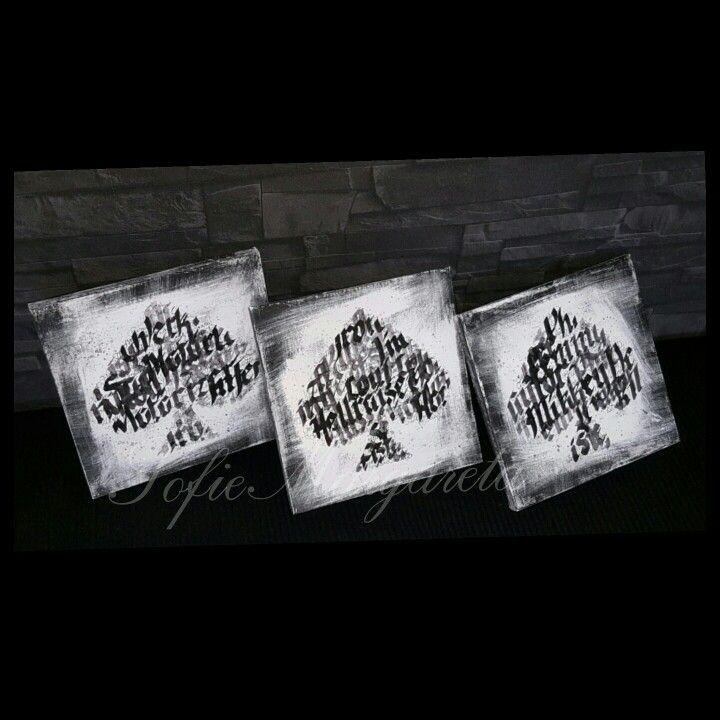 Motörhead-tema.kalligrafi.akvarell.akryl.canvas.tavlor