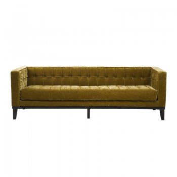 Driezits sofa Mirage | olijfgroene bank met klassiek design