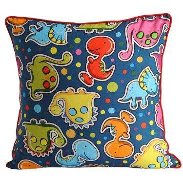 Lovely Name Dinos world Kollektion My Snug Produktart Kissenh lle f r Kinderkissen Farbe Blau Farbe Gelb Besonderheit Kissen in mehreren Gr en verf gbar