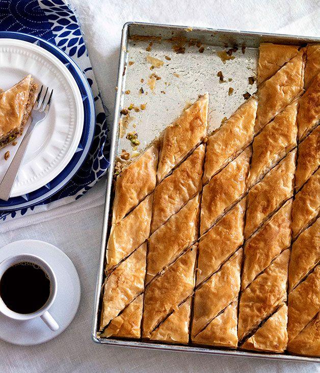 Australian Gourmet Traveller classic dish recipe for baklava.
