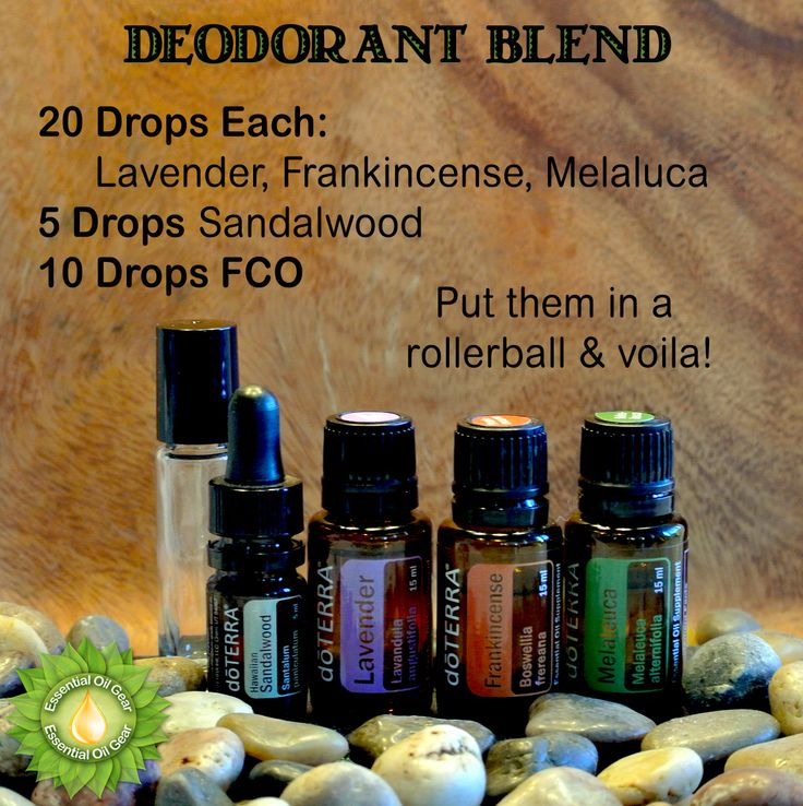 """Fantastic deodorant roll on blend. Sub out Myrrh for the Sandalwood if you like. Also, add Lemongrass if you might need some """"extra help"""" in the stench department. Don't like roll-ons? Add these oils to a glass spray bottle & add alcohol-free Witch Hazel. About an 8oz bottle."""