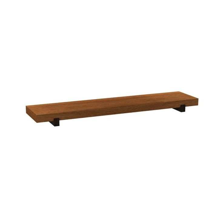 allen + roth 36-in W x 1.5-in H x 7.8-in D Wood Wall Mounted Shelving