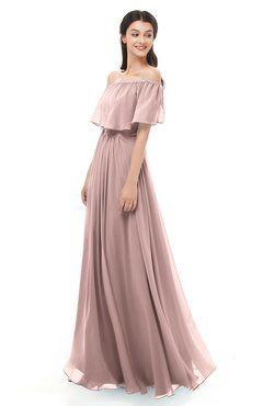 acaa3fd44189 ColsBM Hana Blush Pink Bridesmaid Dresses Romantic Short Sleeve Floor  Length Pleated A-line Off