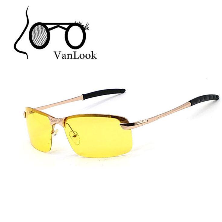 Yellow Sunglasses Polaroid Men Sun Glasses For Night Driving In The Dark Polarized Lens Lentes De Sol Amarillo Anti Reflective #Affiliate