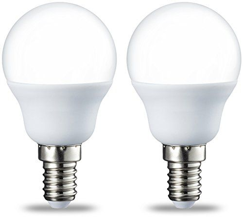 AmazonBasics Petite ampoule LED E14 P45 type globe, avec culot à vis, 5.5W (équivalent ampoule incandescente de 40W), blanc chaud - Lot de 2 #AmazonBasics #Petite #ampoule #type #globe, #avec #culot #vis, #(équivalent #incandescente #blanc #chaud
