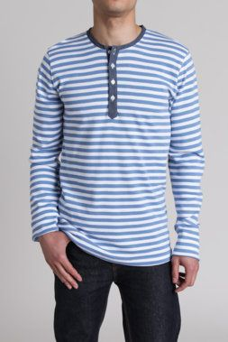 Sprit Striped Classic L/S Henley